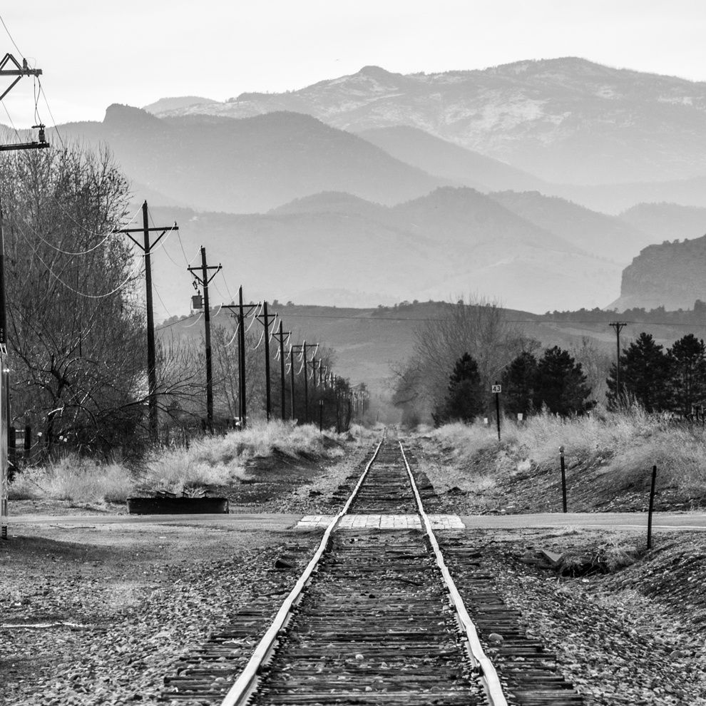 "16. ""Railroad"" BNSF Reylvey ""in Haydzhiene, Colorado."" Colorado, USA. (Brad Sissom / National Geographic Traveler Photo Contest)"
