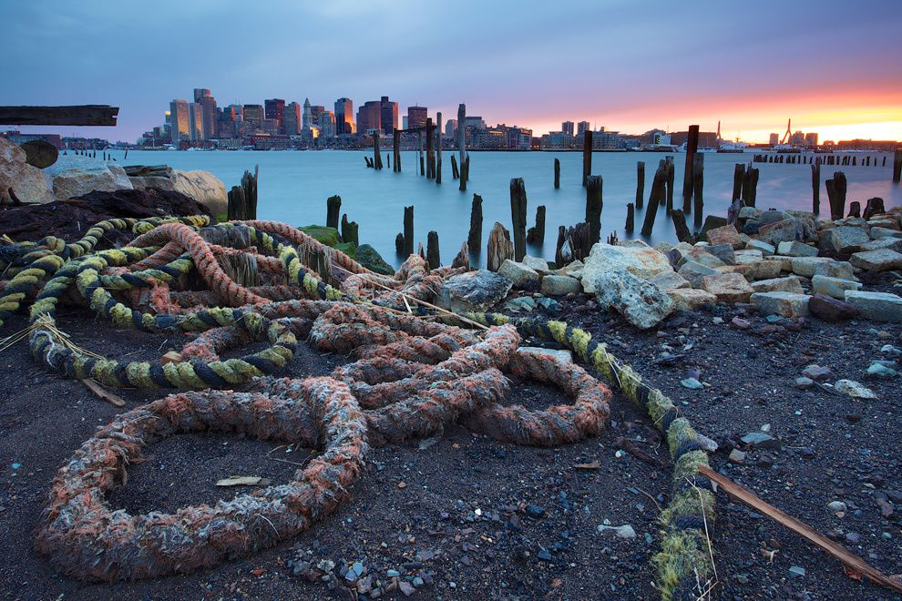 "14. ""Abandoned pier."" East Boston, Massachusetts, USA. (Shaun Ramsay / National Geographic Traveler Photo Contest)"