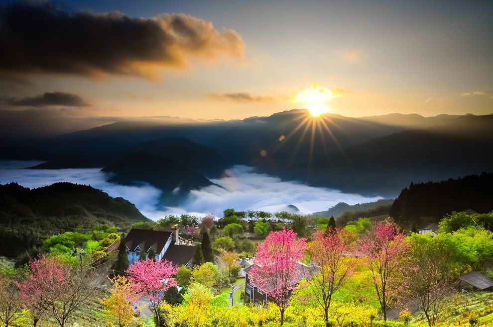"21. ""Dawn in Dongsheng."" Taiwan. (Hsiao Chen-Hsuan/National Geographic Traveler Photo Contest)"