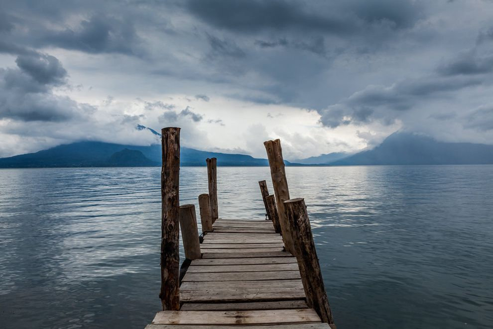 "15. ""The solemnity of the moment."" Approaching Storm. Lake Atitlan, Panajachel, Guatemala. (Juan Aguilar / National Geographic Traveler Photo Contest)"