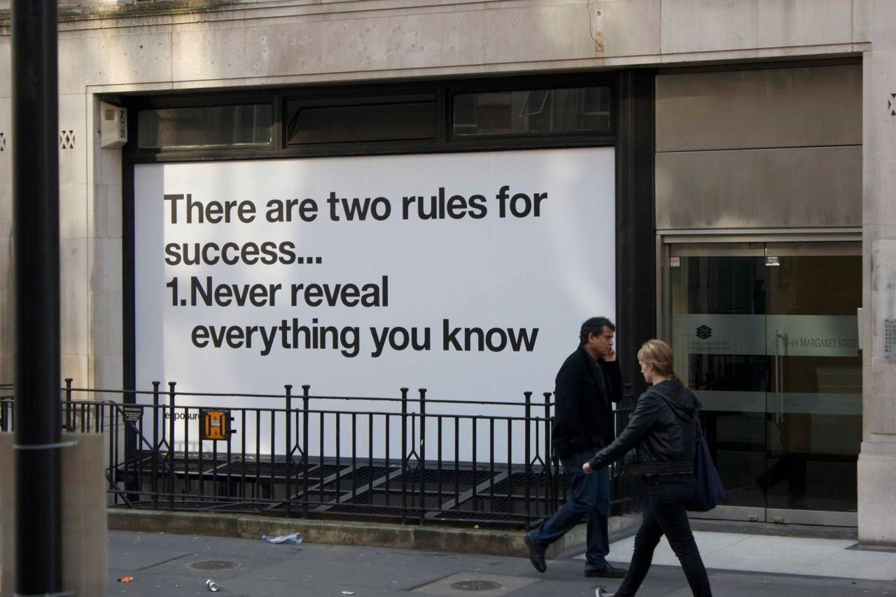 The 2 rules of success