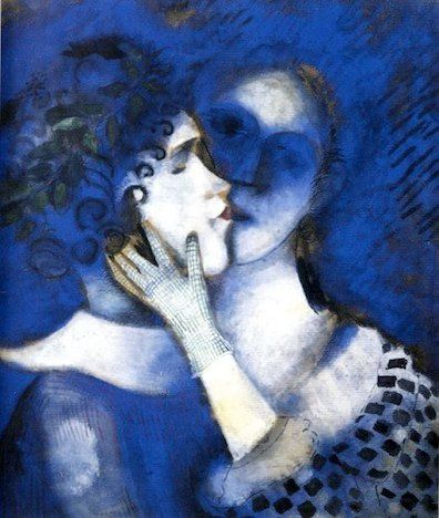 Blue Lovers (détail) Chagall
