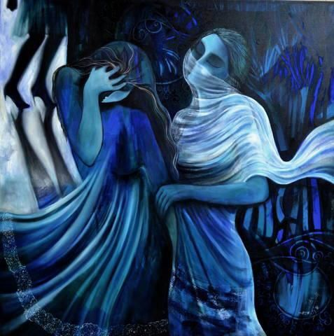 Elmira Shokr Pour, artiste peintre iranienne