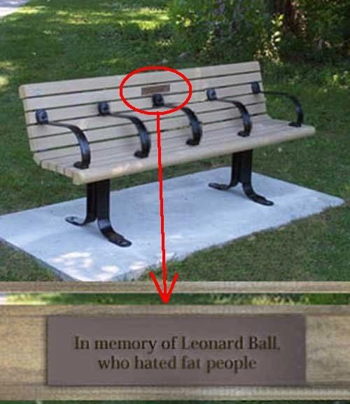 In memory of Leonard Ball..