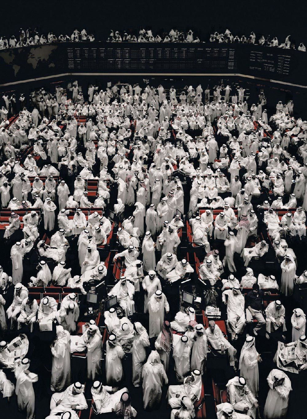 Kuwait stock exchange (Photo de Andreas Gursky)