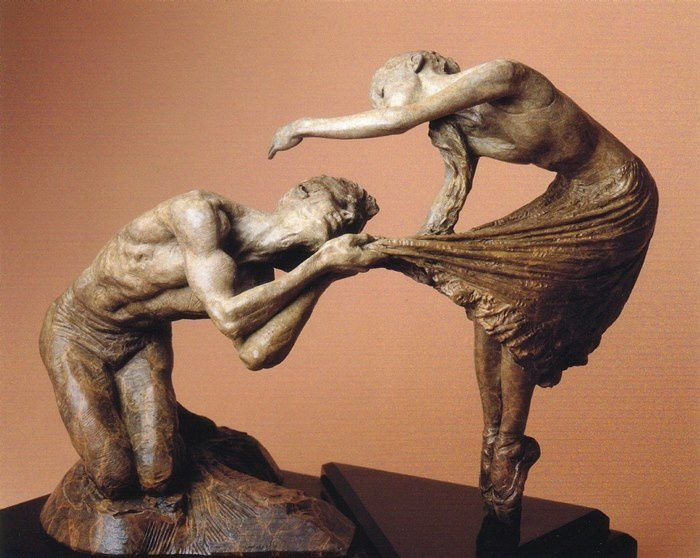 Romeo & Juliet par Richard MacDonald  (Bronze)