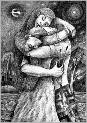 La despedida de los amantes (artiste cubain Carlos Acostaneyra)