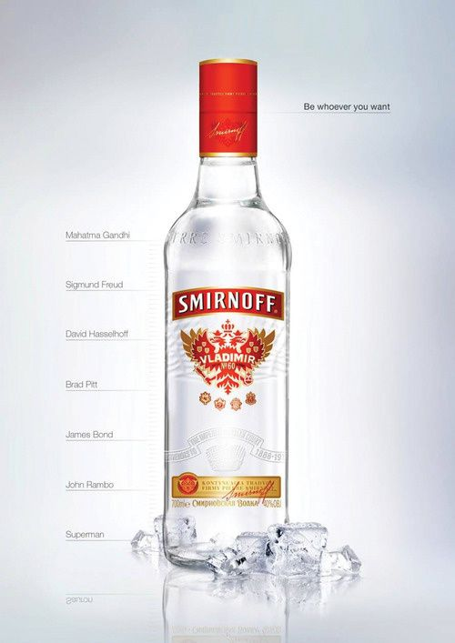 Be whoever you want (Smirnoff Vodka)