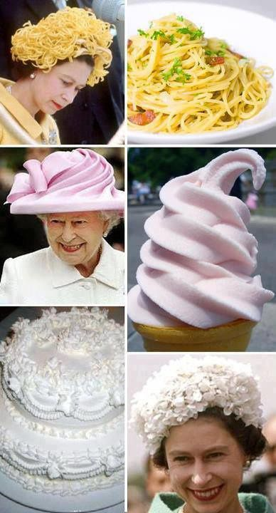 Inspiration des chapeaux of the Queen