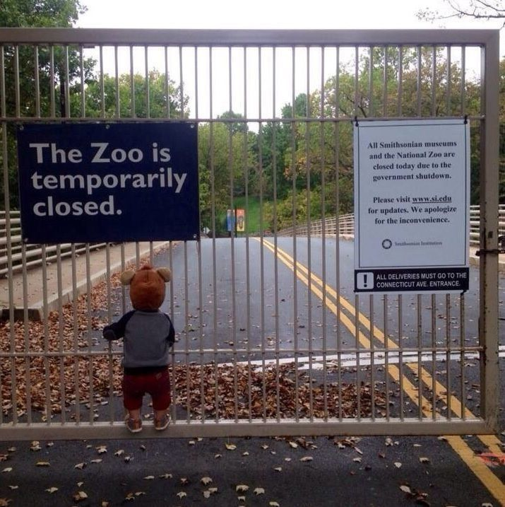 Zoo closed (shutdown USA)