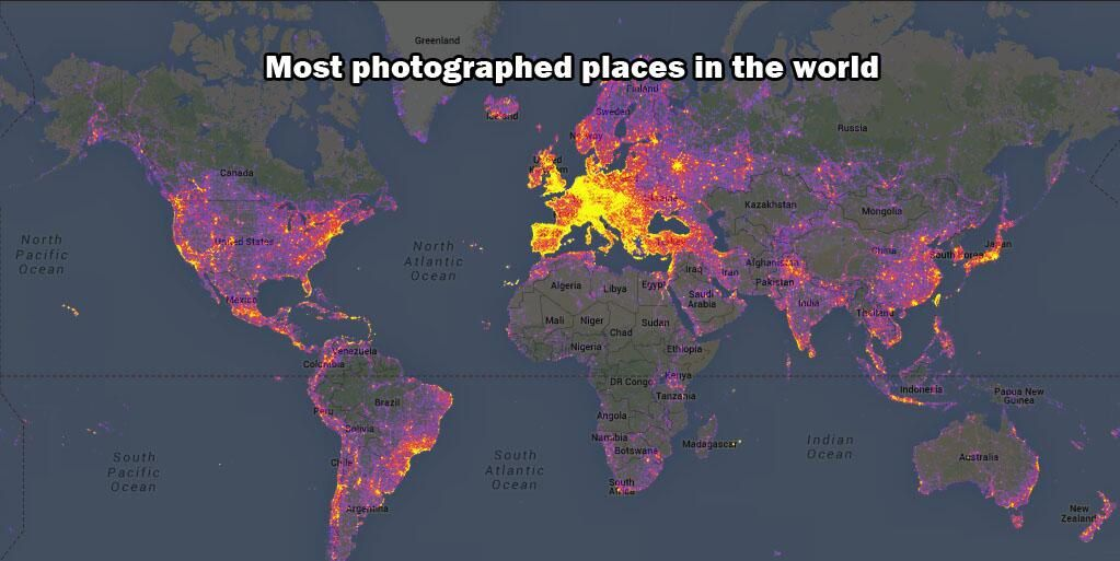 Most photographed places in the world