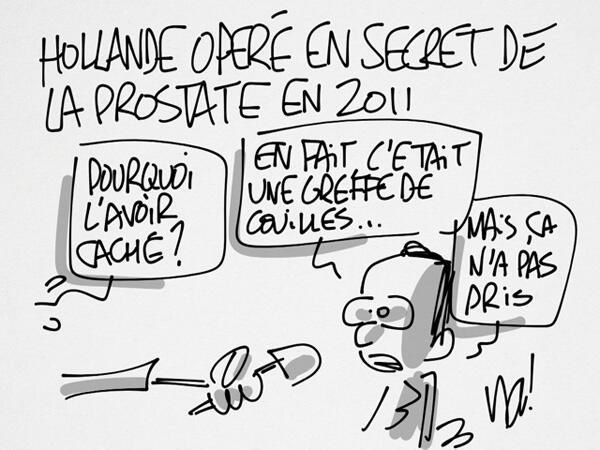 Hollande opéré en secret de la prostate en 2011