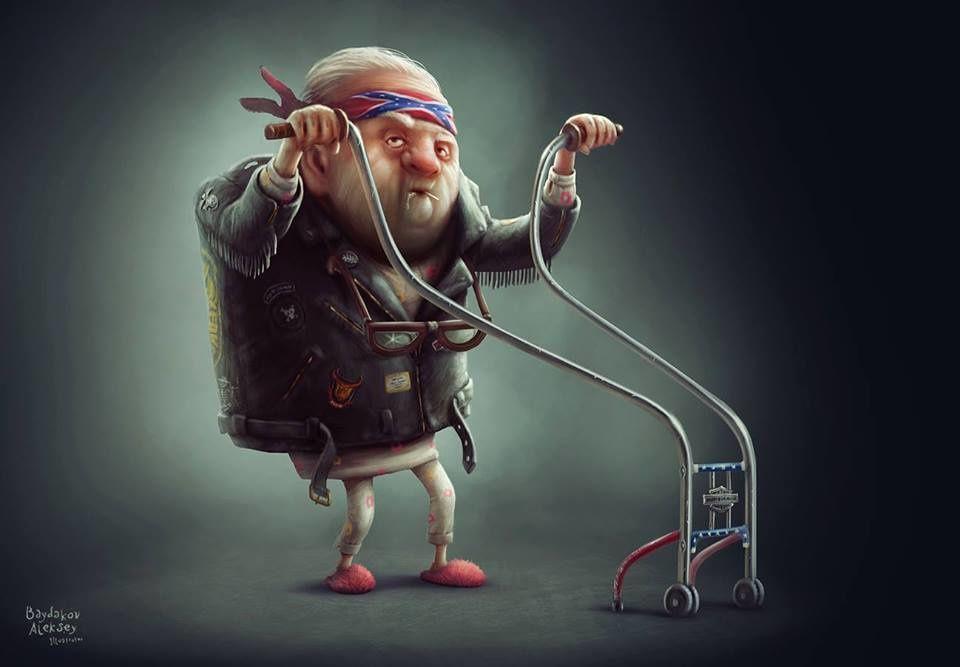 La vieillesse du biker