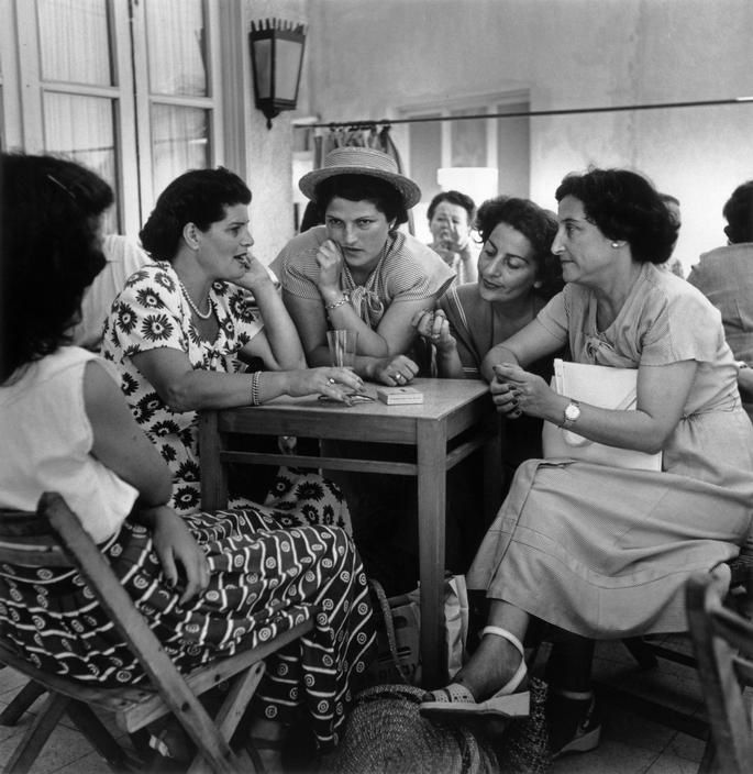 ISRAEL. Tel Aviv. May, 1949. Armon Café, on Hayarkan Street.