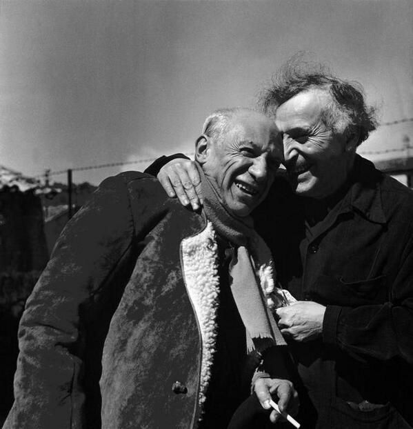 Picasso et Chagall 1955 (Photo Philippe Halsman)