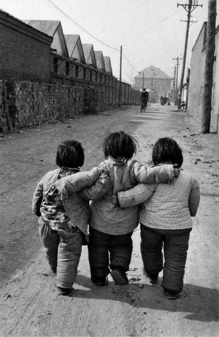 Les petites filles (Marc Riboud, Pékin, 1957)