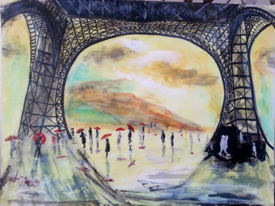 Tour Eiffel sur Aquarelle (par Roger)
