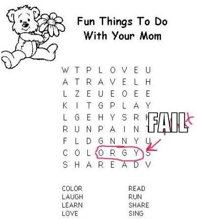 Fun Things To Do With Your Mom..