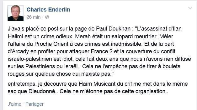 Quand Charles Enderlin attaque injustement le CRIF ! En attendant ses excuses aussi pour l'affaire Al Dura..