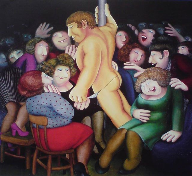 Les Chippendales (Artist Beryl Cook)