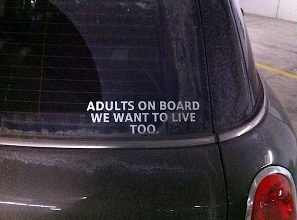 Adults on board..