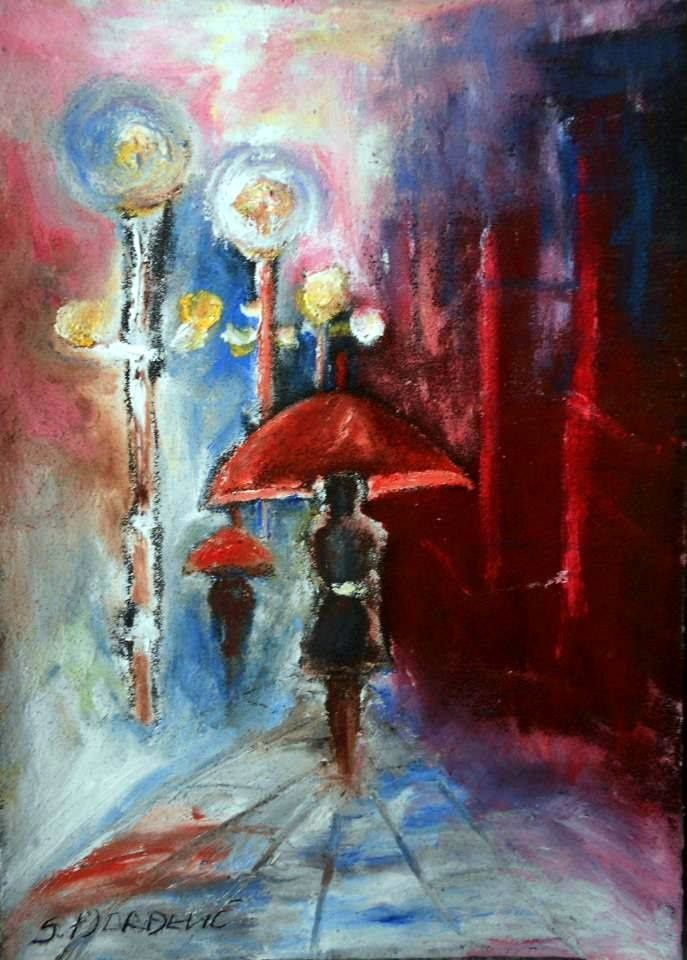 &quot&#x3B;Women with red umbrella&quot&#x3B;  by Suzana Djordjevic