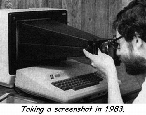 Taking a screenshot in 1983