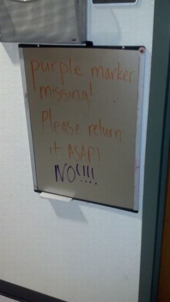 Purple Marker missing