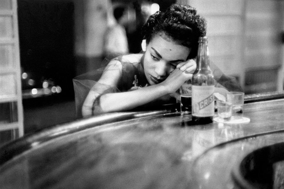 Bar girl in a brothel in the red light district, Havana / Cuba, 1954 (by Eve Arnold)