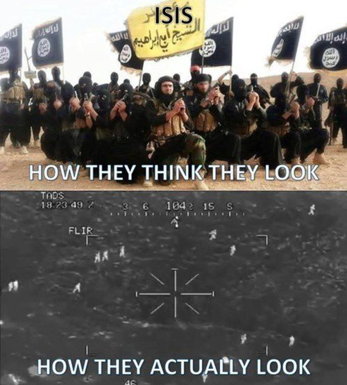 ISIS : how they think they look and how they actually look