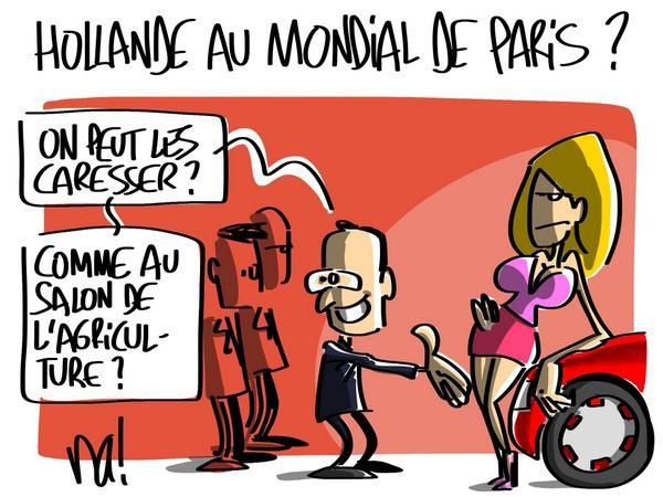 Hollande au mondial de Paris