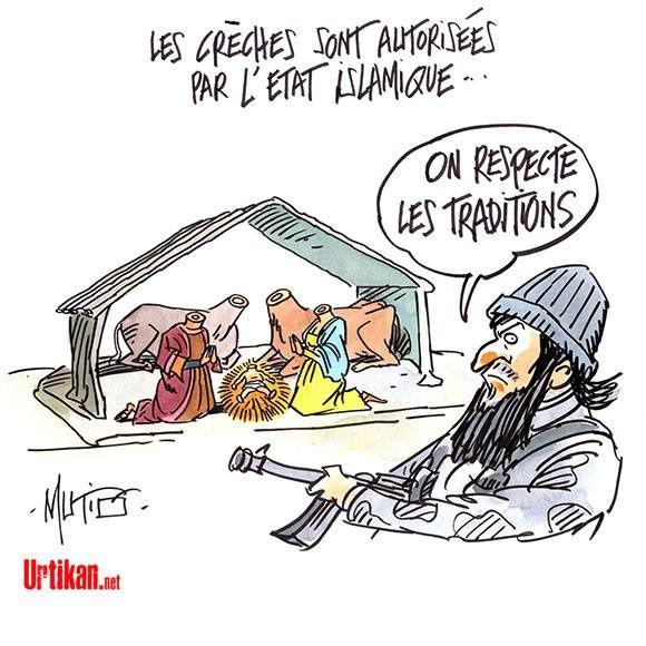 Les crèches sont autorisées dans l'Etat Islamique.