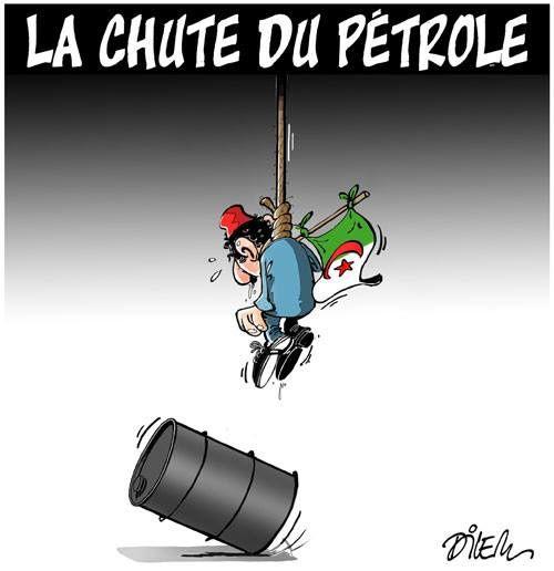 Algérie : la chute du pétrole (par Dilem)