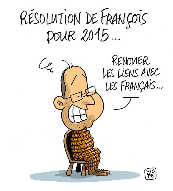 R solution 2015 pour fran ois hollande par ysope humour actualit s citations et images - Image bonne annee humoristique ...