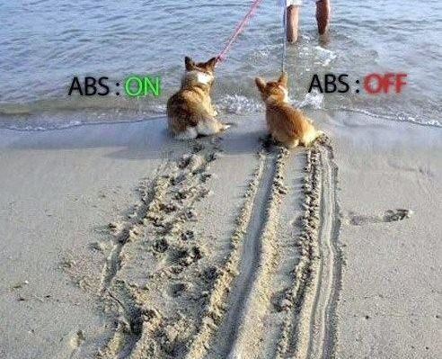 ABS ON, ABS OFF