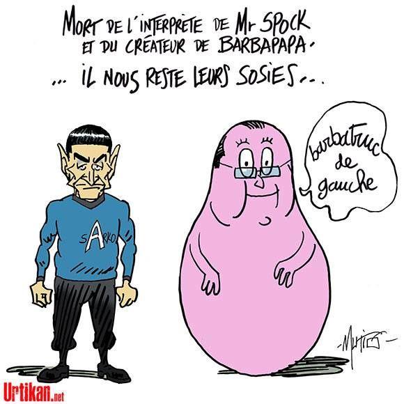 Hommage Monsieur Spock et Barbapapa