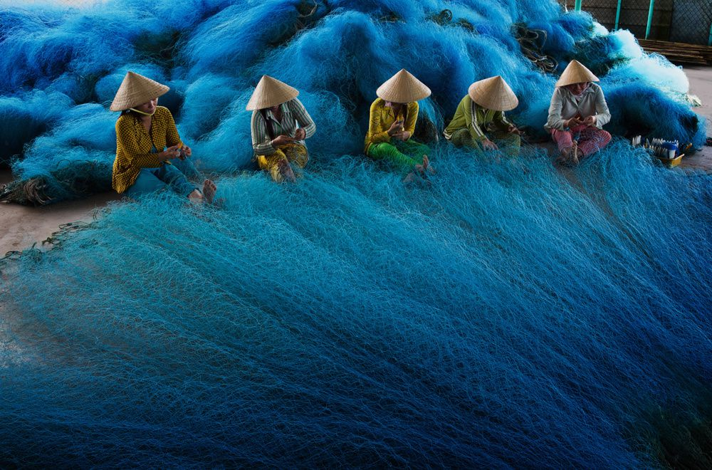 Fishing Net Making in Mekong Delta, Vietnam