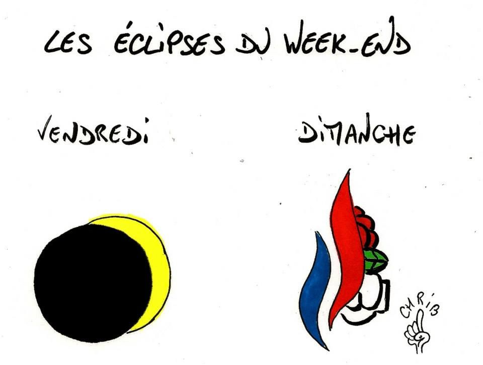 Les éclipses de ce Week-End (par Chrib)
