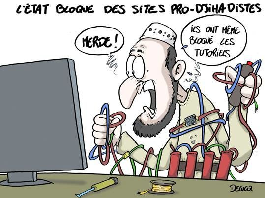 Blocages des sites djihadistes (par Delucq)