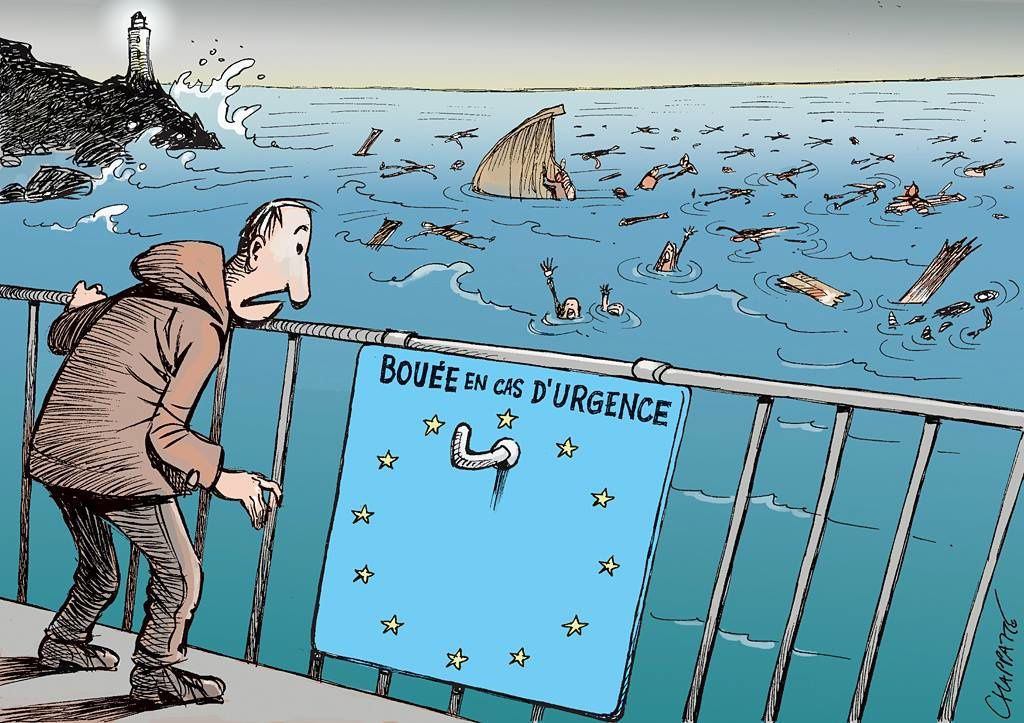 Méditerranée meurtrière - par Chappatte