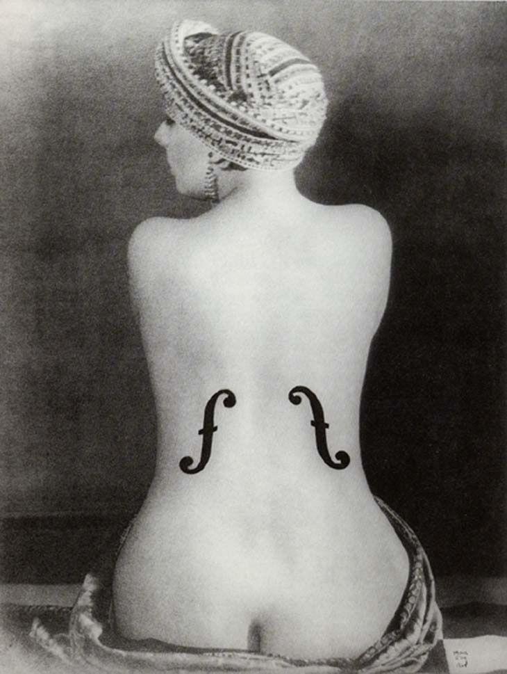 Le Violon d'Ingres, par l'artiste américain Man Ray,1924