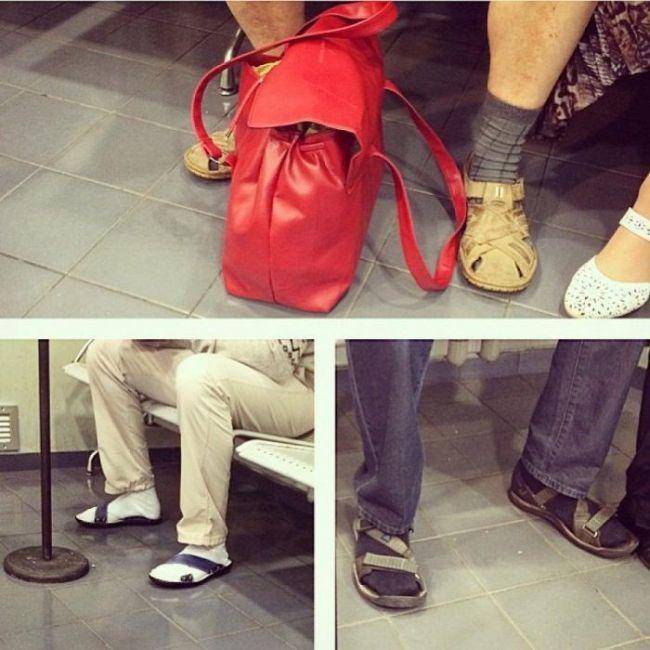 La mariage heureux : Sandales &amp&#x3B; Chaussettes