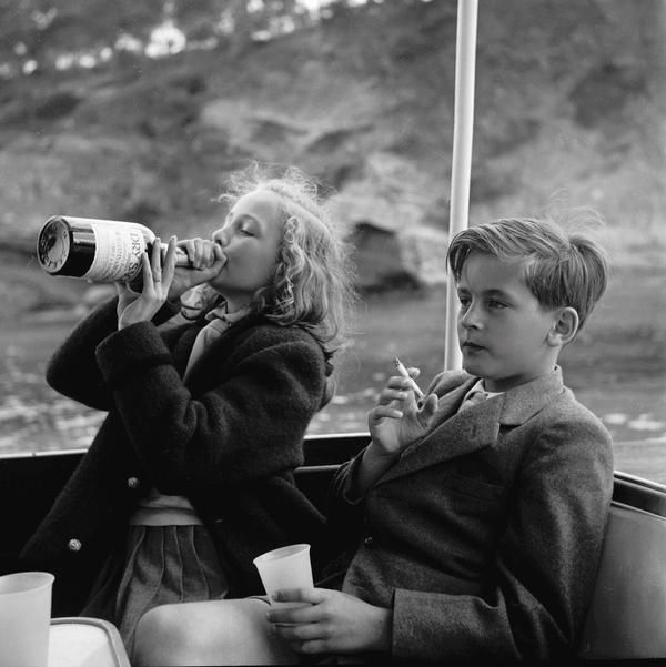 Princess Yvonne &amp&#x3B; Prince Alexander of Sayn-Wittgenstein-Sayn in Germany, 1955