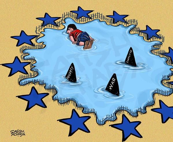 Les dessinateurs s'emparent de la photo d'Aylan Kurdi