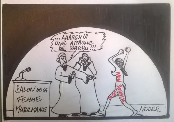 Femen au salon de la femme musulmane