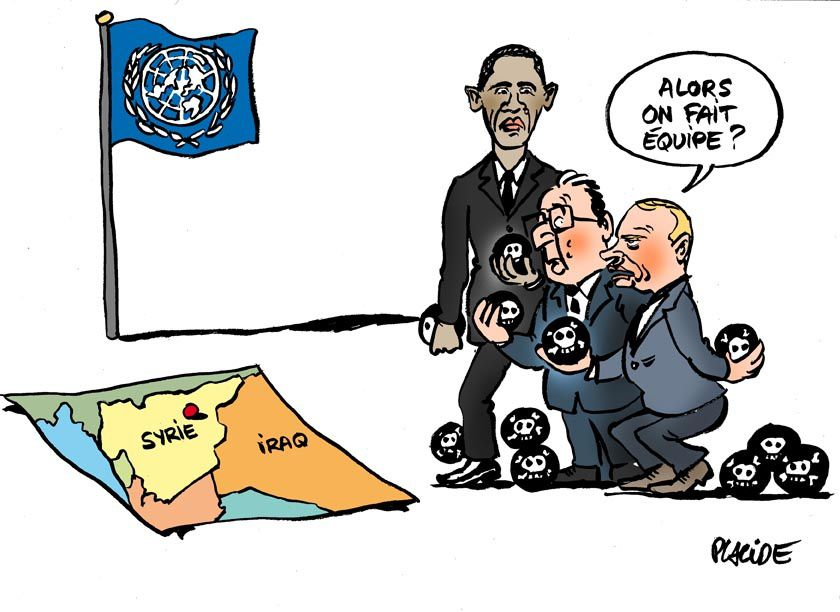 Syrie : Poutine, Obama, Hollande à l'ONU