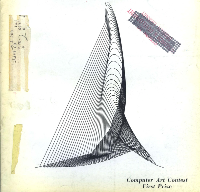 Computer Art Contest : First Prize (1964)