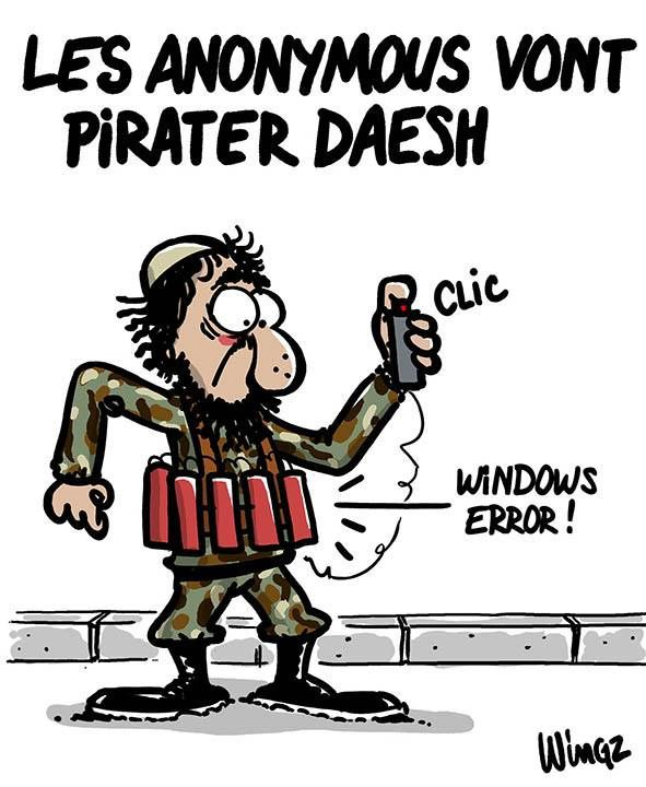 Les anonymous vont pirater Daesh