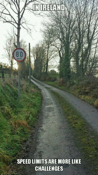 Speed limit in Ireland