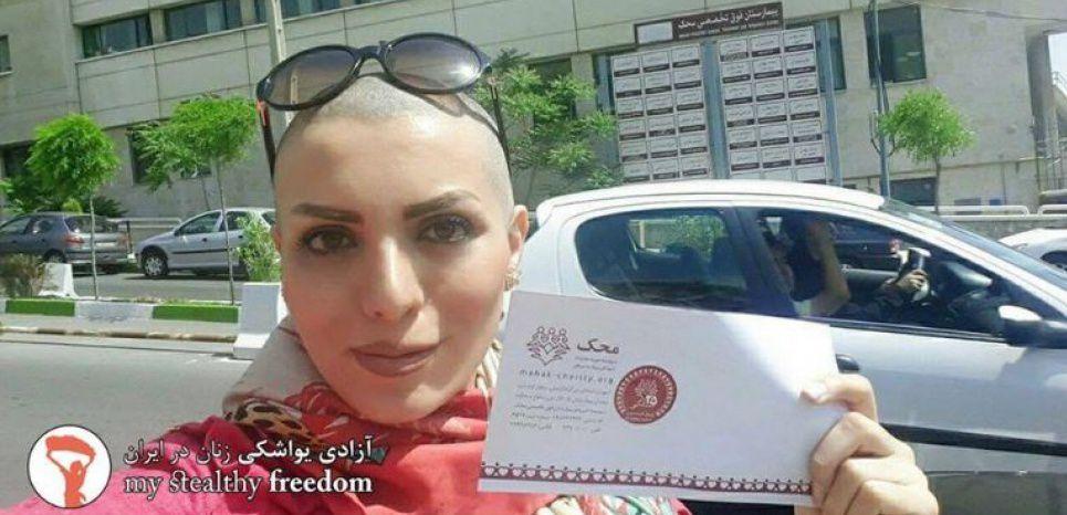 La solution d'une jeune iranienne pour échapper au port du voile : se raser le crâne